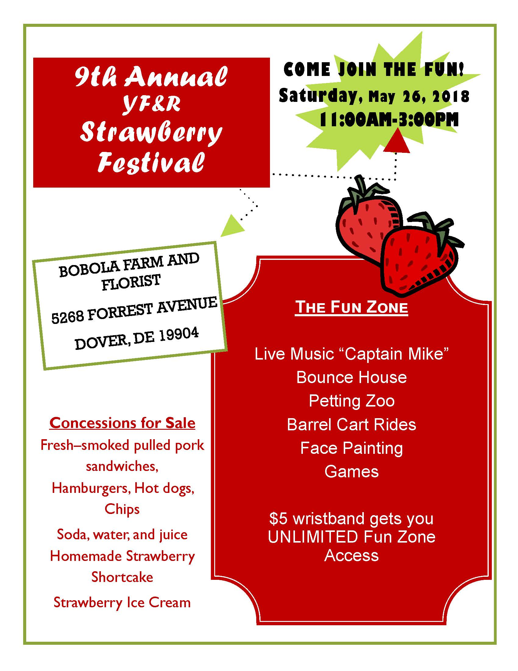 Strawberry Fest Flyer 2018